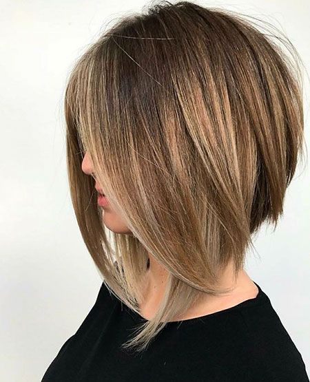 Layered Inverted Lob Haircuts, Bob Lob Choppy Bobs
