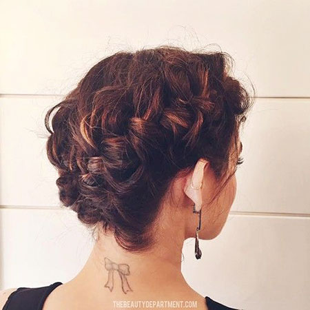 Braided Updo Bun, Curly Updo Bob Lucy