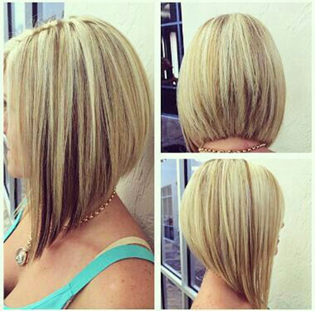 Blonde Straight Hair, Bob Short Length Angled