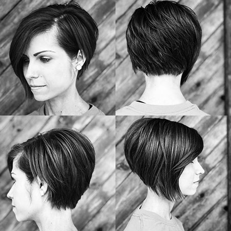 Asymmetrical Cut, Short Pixie Bob Layered