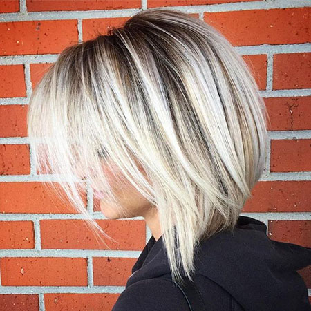 Neck Length Straight Bob Hairtyles, Bob Straight Blonde Balayage