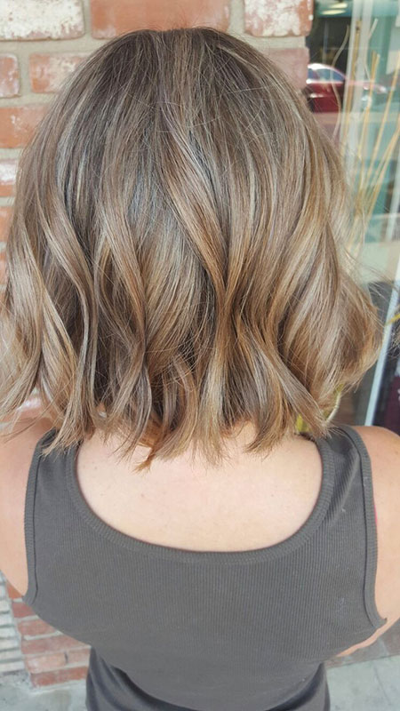 Bob Balayage Blonde Short