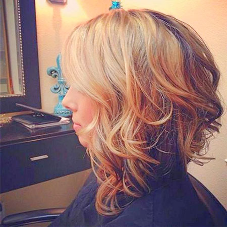 Curly Bob Long Blonde