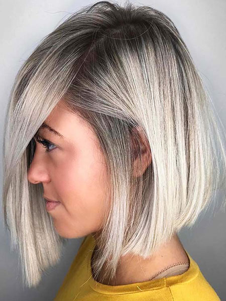 Bob Gray Balayage Blonde
