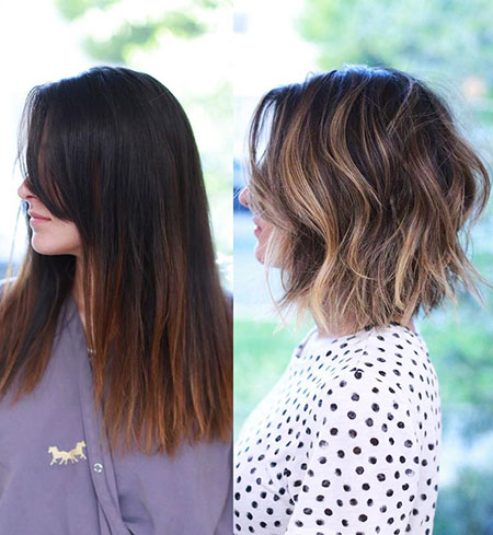 Length Lob Balayage Choppy