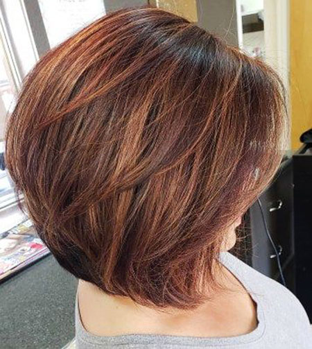 Bob Hair Caramel Layered