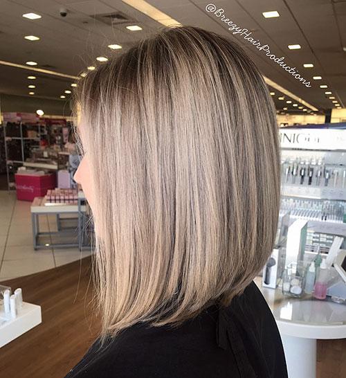 Angled Blonde Bob Hair