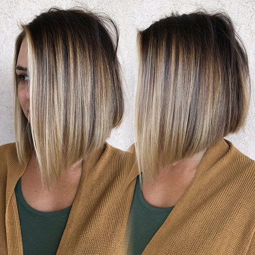 Blonde Balayage Bob Hair