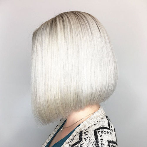 Ice Blonde Bob Hair