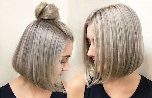 Top Knot Bob Hair