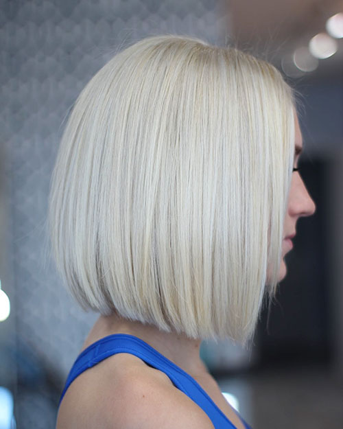 Sleek Blonde Bob Hair