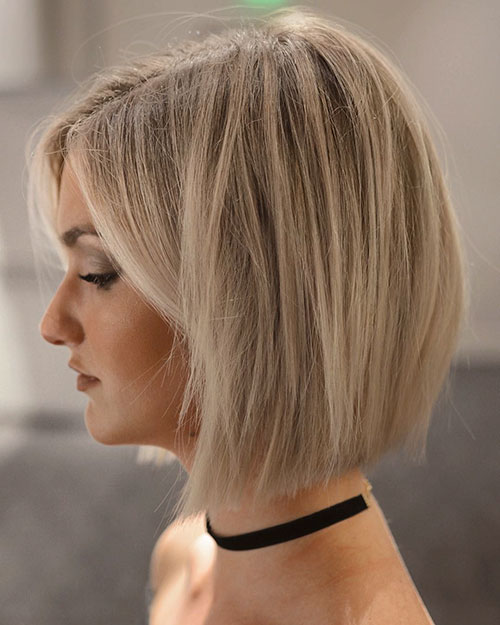 Pretty Blonde Bob Hair