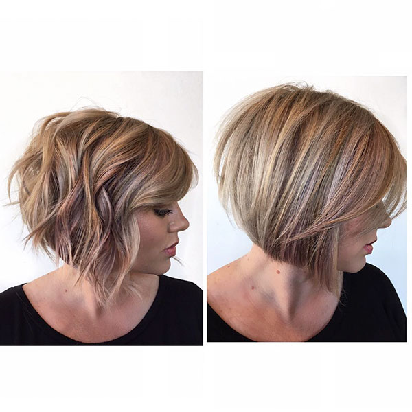 Blonde Highlighted Bob Hairstyles