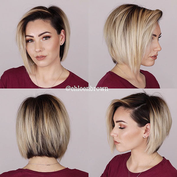 Blonde Bob With Dark Roots