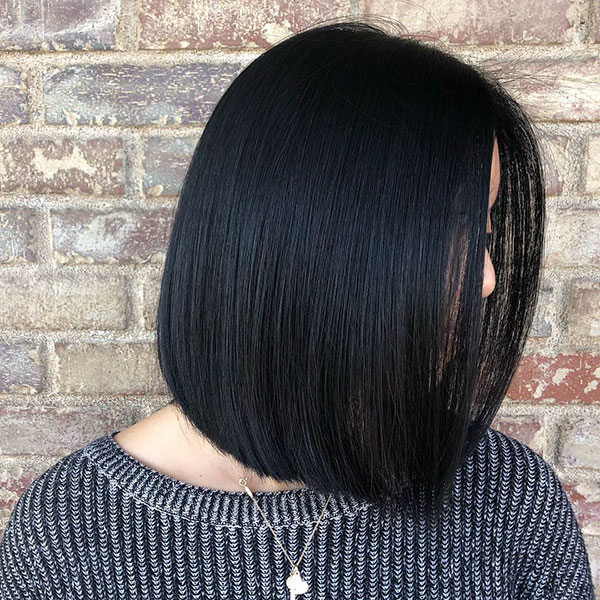 Long Bob Black Hair
