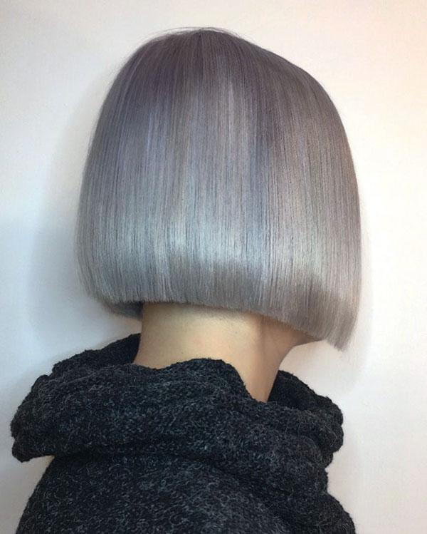 White Bob Hairstyles