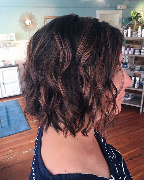 Choppy Curly Bob