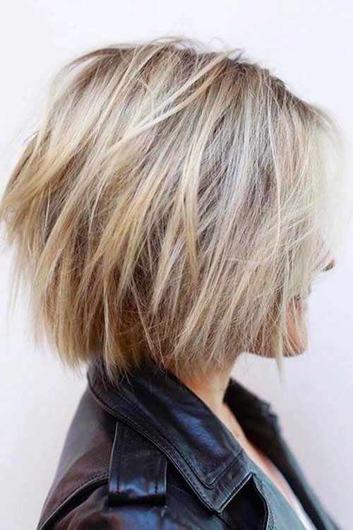 Choppy Blonde Bob