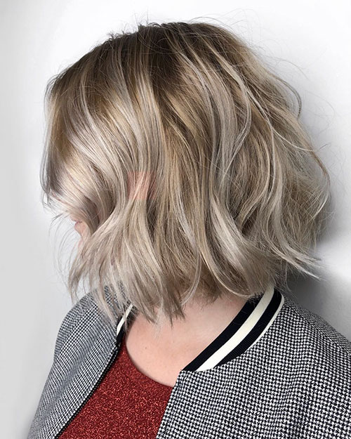 Mid Length Choppy Bob