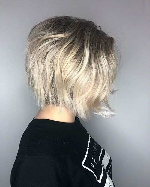 Chin Length Choppy Bob