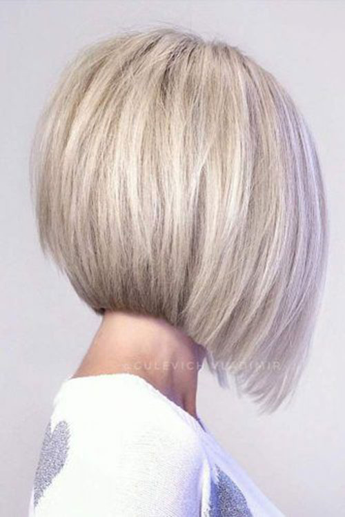 Short Inverted Bob Haircuts Back View
