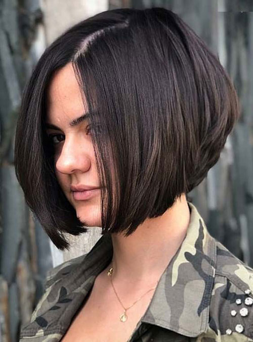 Stacked Brown Bob Haircuts 2019-10