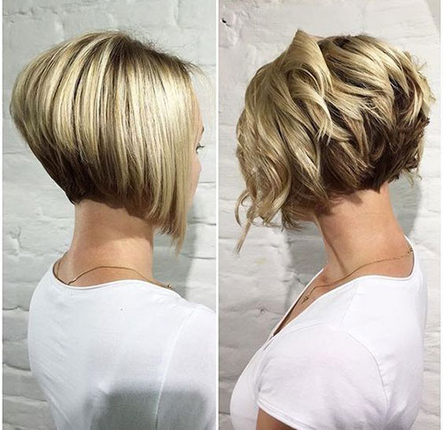 Super Short Stacked Bob Haircuts