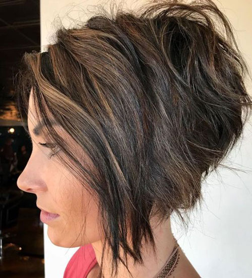 Stacked Wavy Bob Haircuts 2019-6