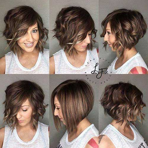 Asymmetrical Curly Bob