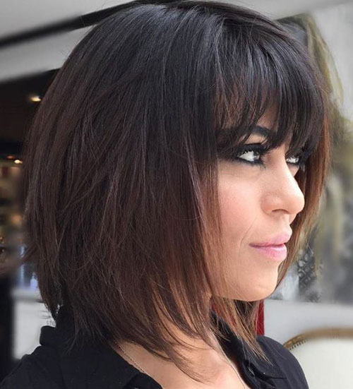 Long Bob Hairstyles with Bangs-10