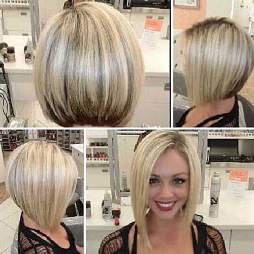 Blonde Asymmetrical Bob