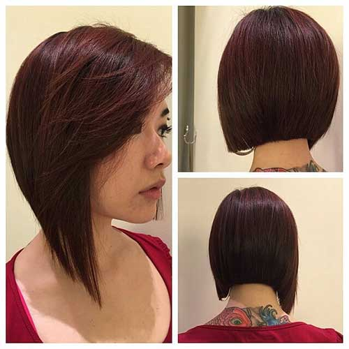 Asymmetrical Graduated Bob