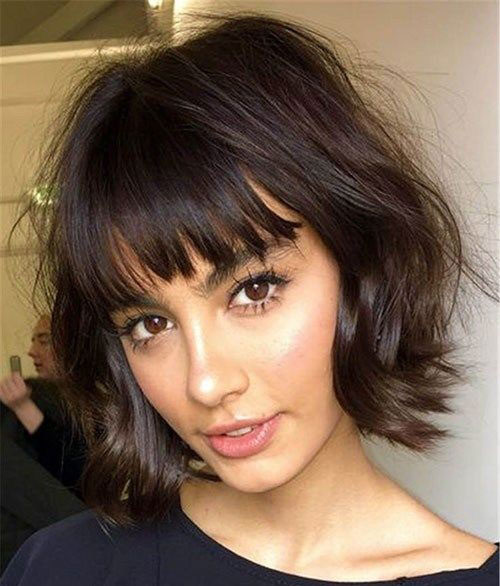 Cute Bob Hairstyles with Bangs-15