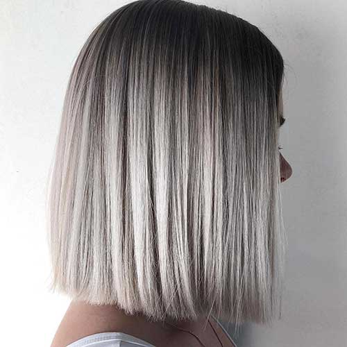 Long Bob Blonde Highlights
