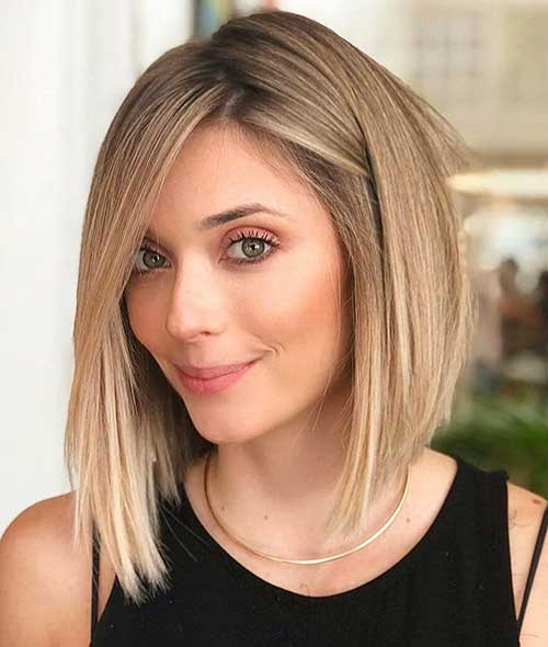 Angled Bob With Layers