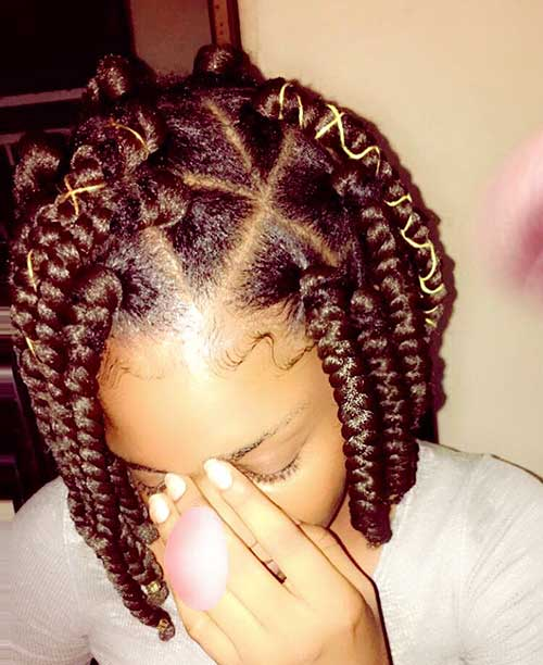 30 Awesome Bob Box Braids Styles Bob Hairstyles 2018