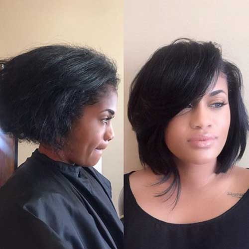 Asymmetrical Bob Black Hair