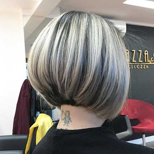 Short Hairstyles Back View Inverted Bob