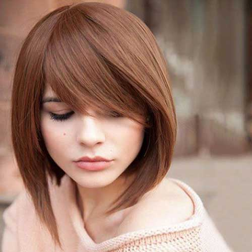 Asymmetrical Bob With Bangs