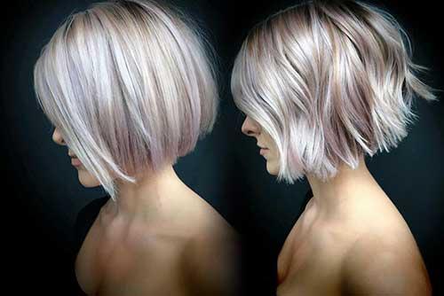 Short Angled Bob Hairstyles