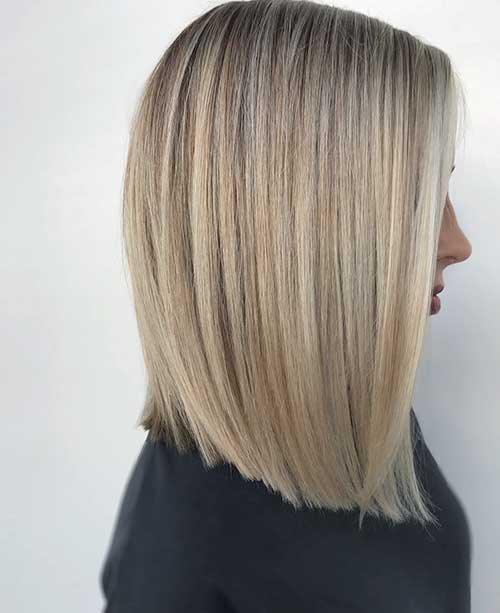 Long Bob With Blonde Highlights