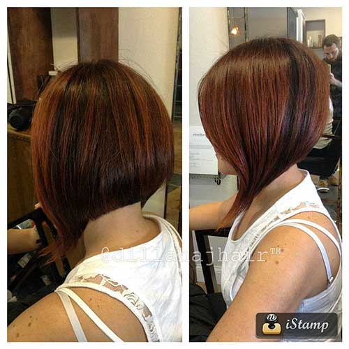 Stacked Angled Bob Haircut