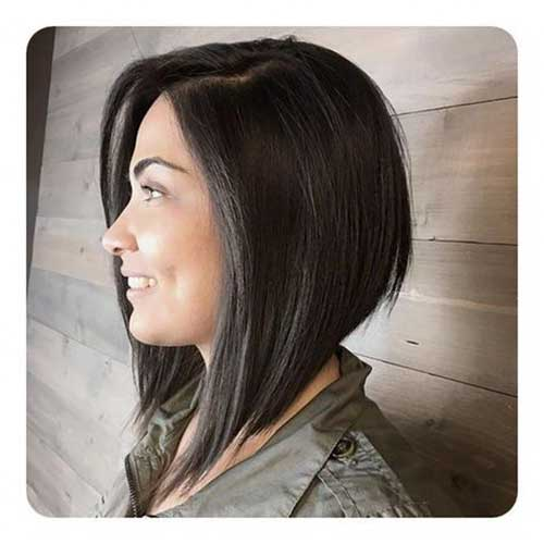Long Angled Bob Haircut