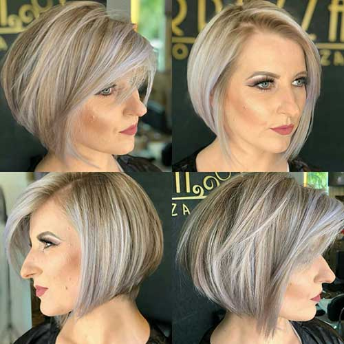 60 Best Short Angled Bob Hairstyles 2019