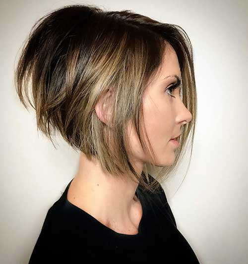Short Angled Bob With Layers