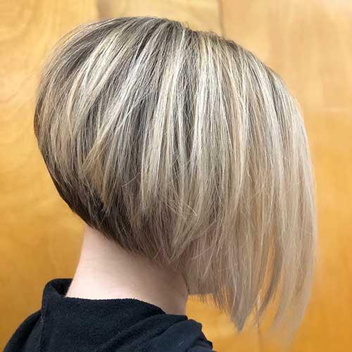 Short Blonde Angled Bob