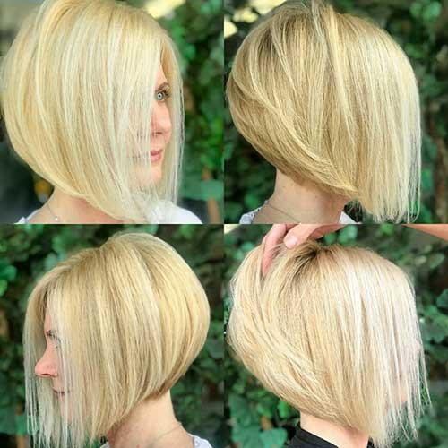 Short Angled Bobs For Fine Hair