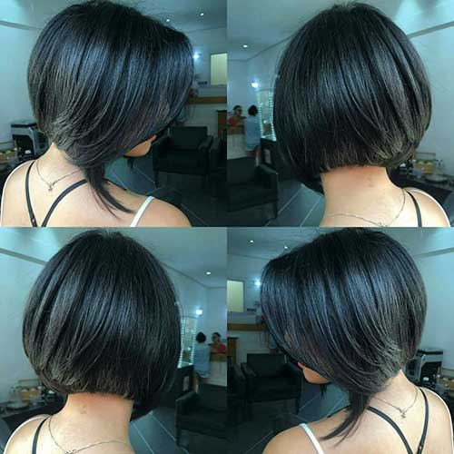 Graduated Bob Hairstyles Back View