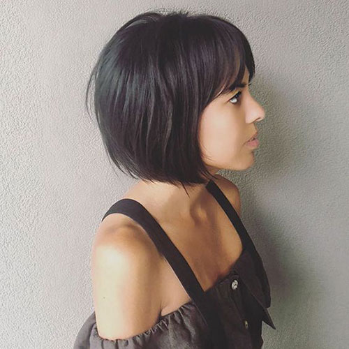 Cute Bob Hairstyles with Bangs-7