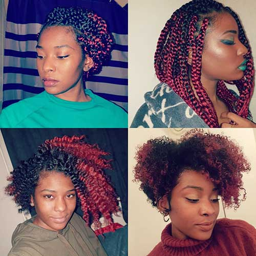 Layered Bob Box Braids